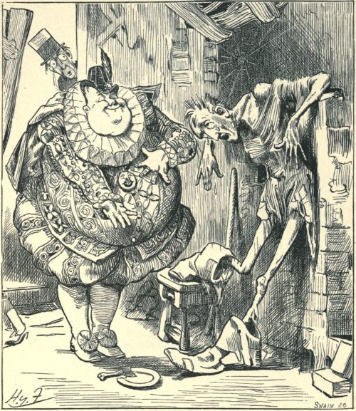 Sylvie and Bruno - I Will Lend You Fifty More! Illustration by Harry Furniss