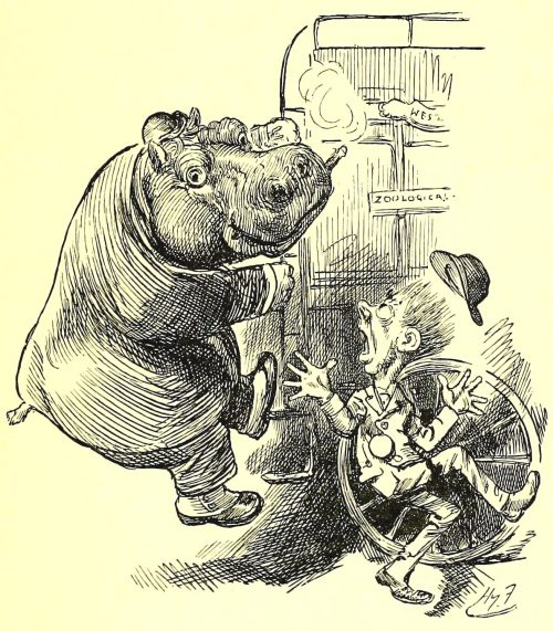Sylvie and Bruno - It Was A Hippopotamus Illustration by Harry Furniss