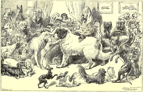 Sylvie and Bruno - The Dog-King Illustration by Harry Furniss