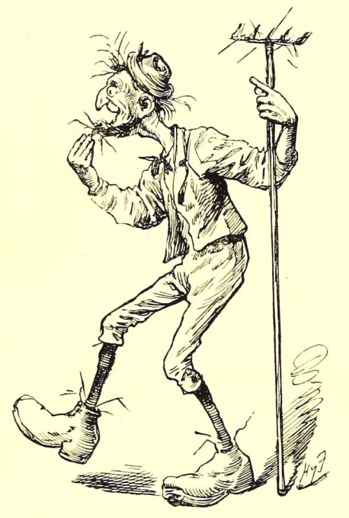 Sylvie and Bruno - The Gardener Illustration by Harry Furniss