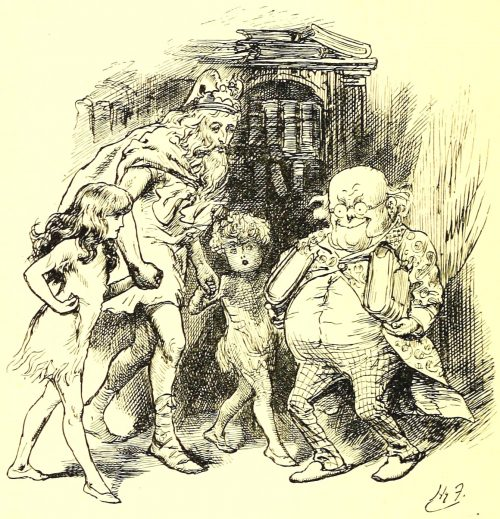 Sylvie and Bruno - Visiting The Professor Illustration by Harry Furniss