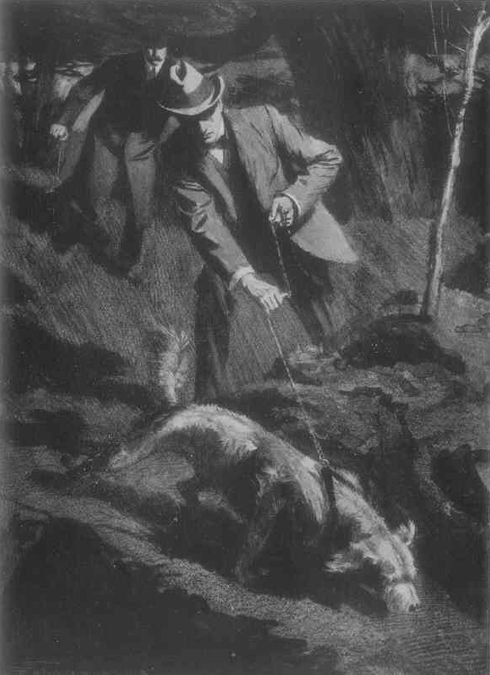 Sherlock Holmes Sign of The Four with his nose on the ground, and his tail in the air, pattered off upon the trail