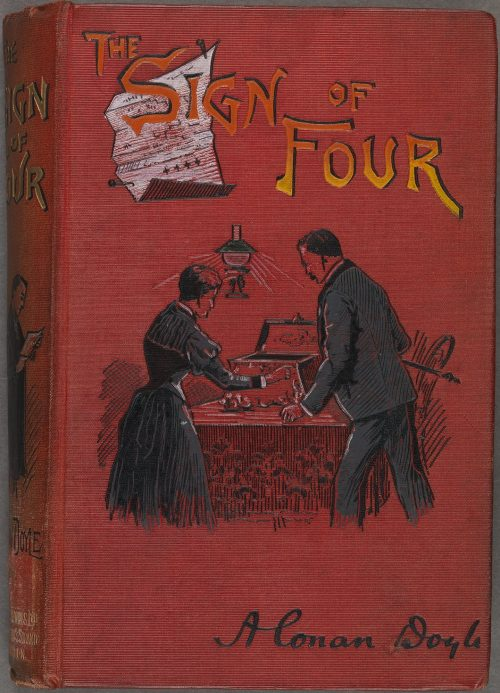 Sherlock Holmes The Sign of Four Book Cover 1892