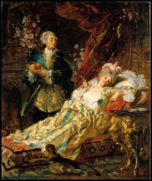 King Louis XV and Madame Du Barry, painting by Gyula Benczúr