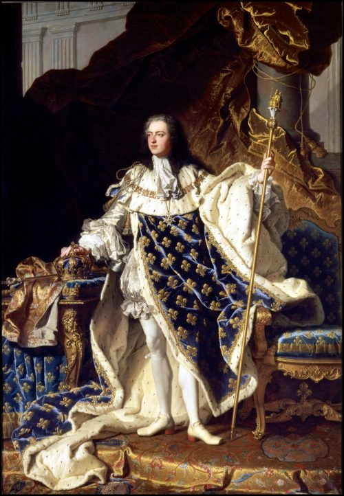 Louis XV, King of France, painting by Hyacinthe Rigaud