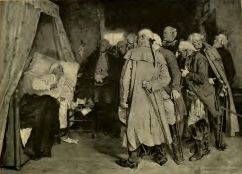Frederick the Great Reproaching his Generals at Köben After the painting by Arthur Kampf