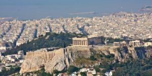 Acropolis Athens Greece as seen from Exarchion Photograph