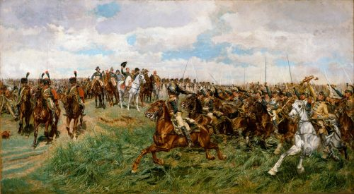 1807, Napoleon at Friedland, painting by Ernest Meissonier