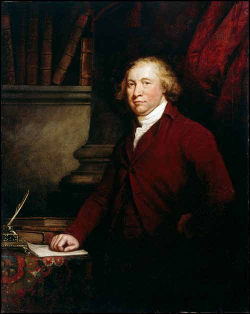 Edmund Burke, painting by J. Barry, Dublin National Gallery