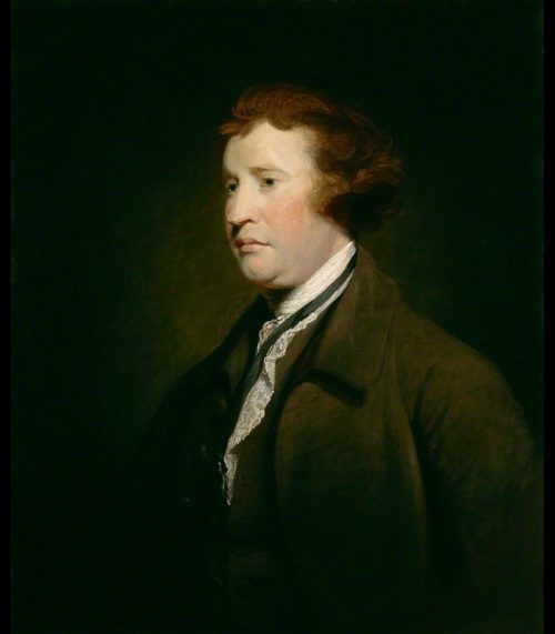 Edmund Burke painting by Joshua Reynolds