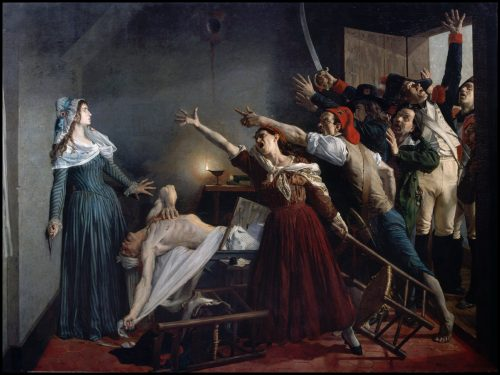 Murder of Marat by Charlotte Corday, painting by J. Weerts