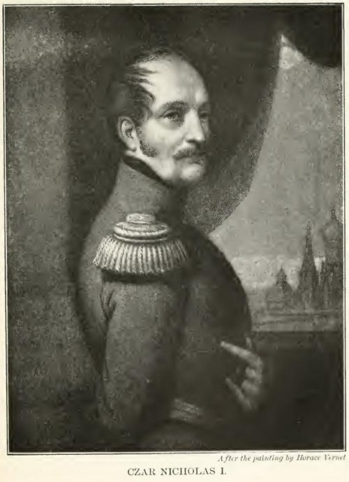 Czar Nicholas I. After the painting by Horace Vernet