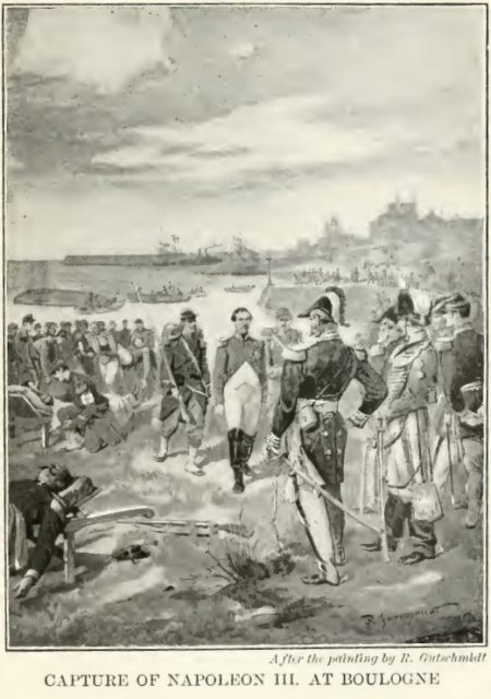 Capture of Napoleon III. at Boulogne After the painting by R. Gutschmidt