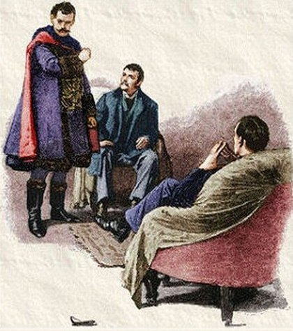 Sherlock Holmes A Scandal in Bohemia he tore the mask from his face