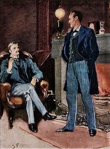 Sherlock Holmes A Scandal in Bohemia Then he stood before the fire
