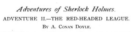 Sherlock Holmes The Red-Headed League by Arthur Conan Doyle