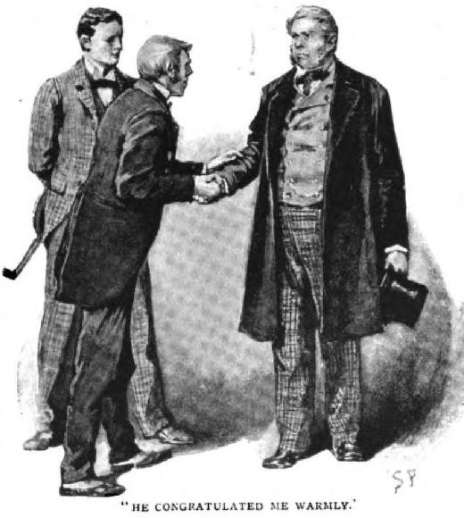 Sherlock Holmes The Red-Headed League he plunged forward, wrung my hand, and congratulated me warmly on my success