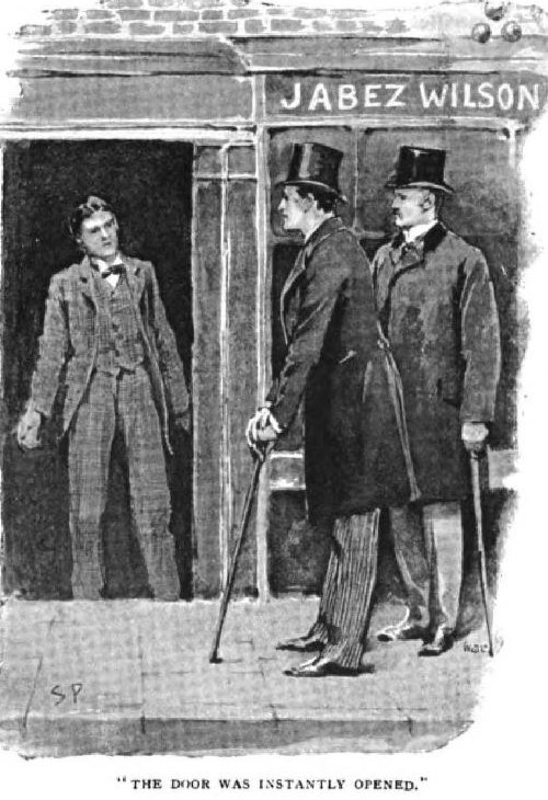 Sherlock Holmes The Red-Headed League the door was instantly opened