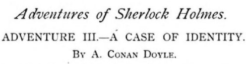 Sherlock Holmes A Case of Identity by Arthur Conan Doyle