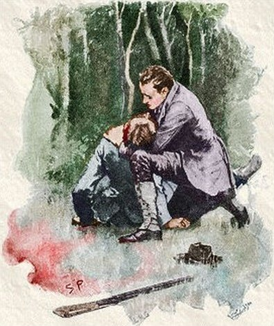 Sherlock Holmes The Boscombe Valley Mystery I dropped my gun and held him in my arms, but he almost instantly expired