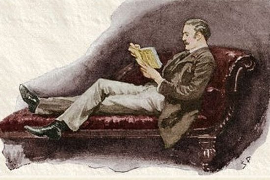 Sherlock Holmes The Boscombe Valley Mystery I lay upon the sofa and tried to interest myself in a yellow-backed novel