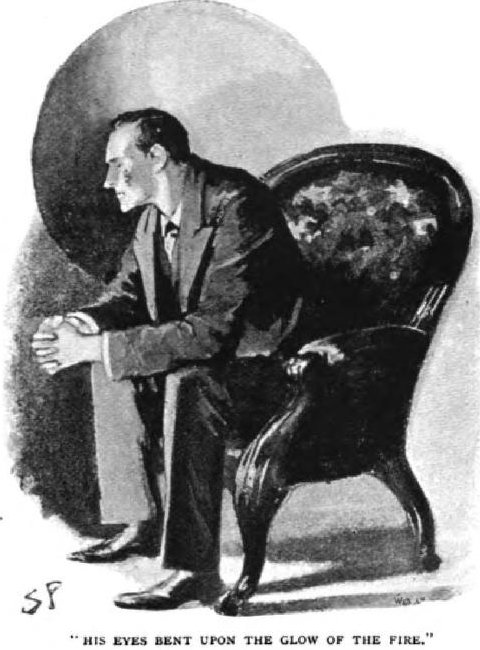 Sherlock Holmes The Five Orange Pips his eyes bent upon the red glow of the fire