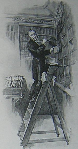 The Inconsiderate Waiter In the library