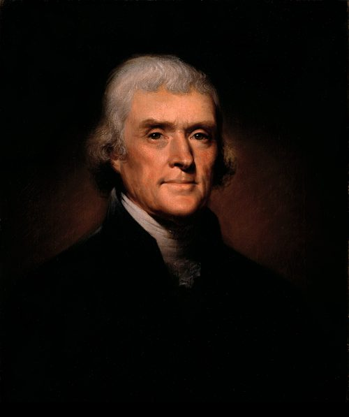 Thomas Jefferson, painting by Rembrandt Peale