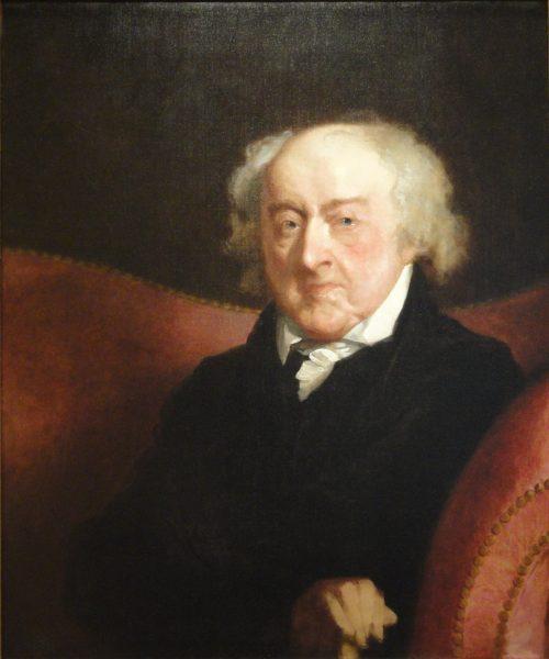 John Adams, painting by Gilbert Stuart