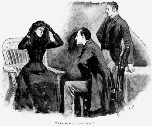 Sherlock Holmes The Speckled Band She raised her veil as she spoke