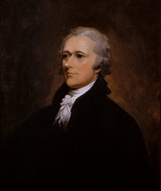 Portrait of Alexander Hamilton, painting by John Trumbull