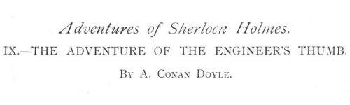 Sherlock Holmes The Adventure of the Engineer's Thumb