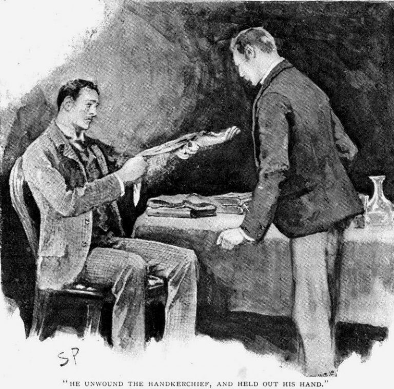 Sherlock Holmes The Engineer's Thumb He unwound the handkerchief and held out his hand