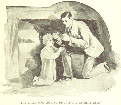 The Fate of Fenella - The child was looking up into his fathers eyes