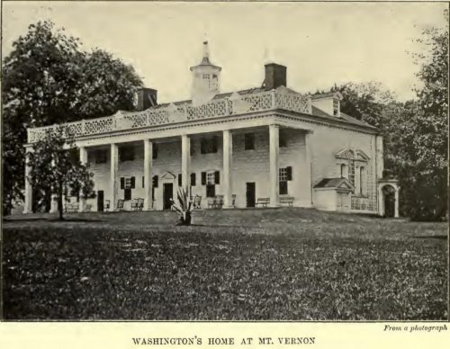 George Washington's Home at Mt. Vernon From a photograph
