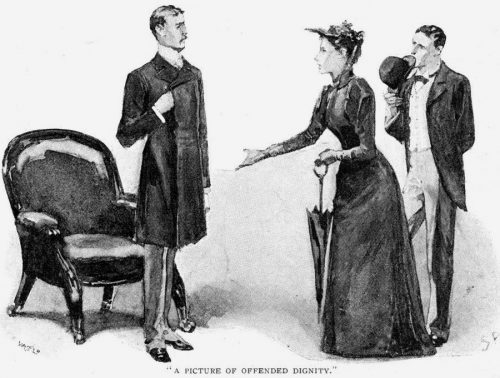 Sherlock Holmes The Noble Bachelor a picture of offended dignity