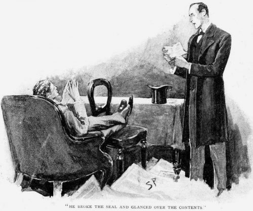 Sherlock Holmes The Noble Bachelor He broke the seal and glanced over the contents