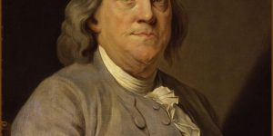 Benjamin Franklin, painting by Joseph-Siffrède Duplessis