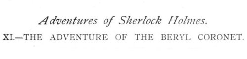 Sherlock Holmes The Adventure of the Beryl Coronet