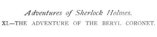 Sherlock Holmes The Adventure of the Beryl Coronet