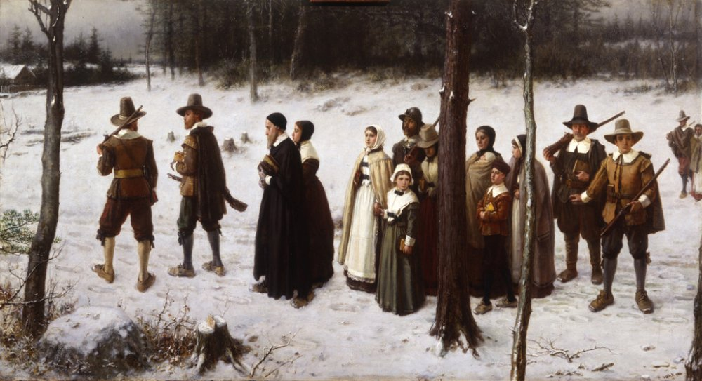 Puritans Going to Church After the painting by George Henry Boughton