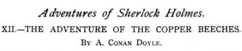 Sherlock Holmes The Copper Beeches by Arthur Conan Doyle