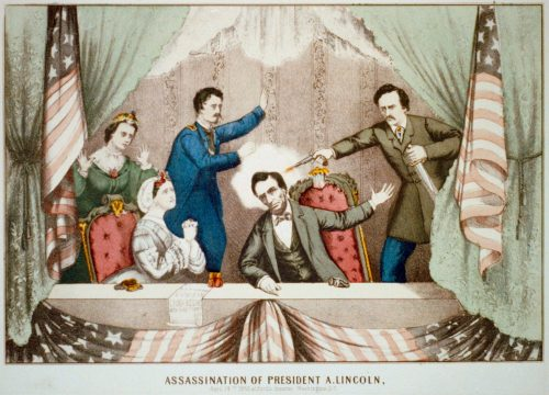 Assassination of President Lincoln at Ford's Theatre, Washington, D.C., April 14th, 1865