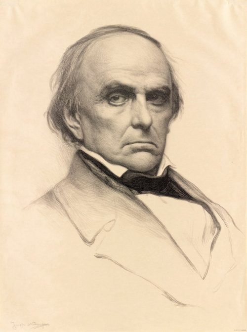 Daniel Webster Chromolithograph by Joseph DeCamp