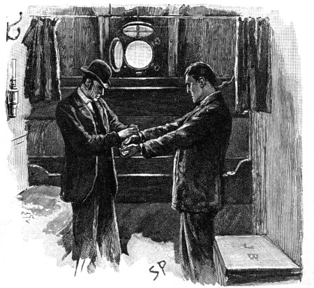 Sherlock Holmes The Adventure of the Cardboard Box he held out his hands quietly enough for the darbies