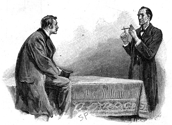 Sherlock Holmes The Yellow Face He held it up and tapped on it