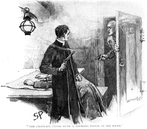 Sherlock Holmes The Gloria Scott the chaplain stood with a smoking pistol in his hand