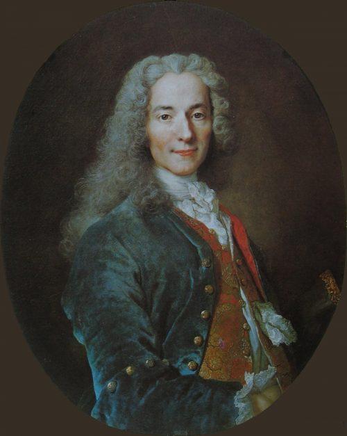 François Marie Arouet de Voltaire, painting by Nicolas de Largillière