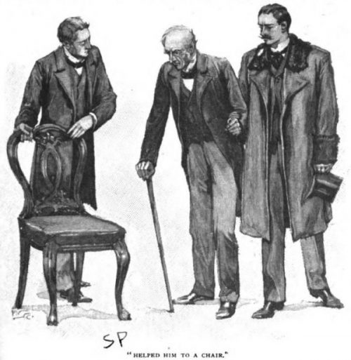 Sherlock Holmes The Resident Patient helped him to a chair