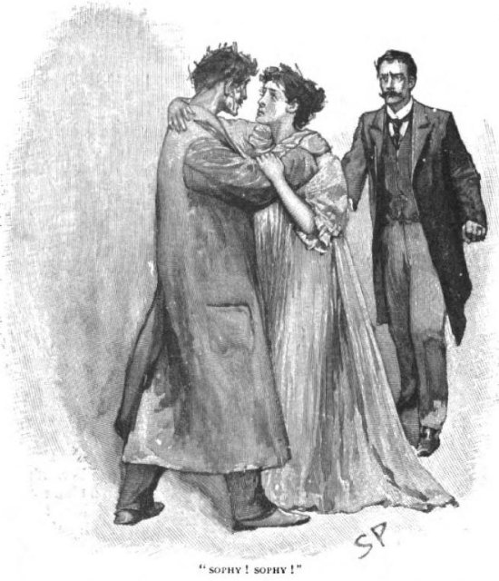 Sherlock Holmes The Greek Interpreter screaming out 'Sophy! Sophy!' rushed into the woman's arms